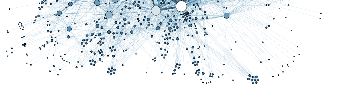 "Cropped version of ""Social Network Analysis Visualization"" By Martin Grandjean [CC BY-SA 3.0 (http://creativecommons.org/licenses/by-sa/3.0)], via Wikimedia Commons"